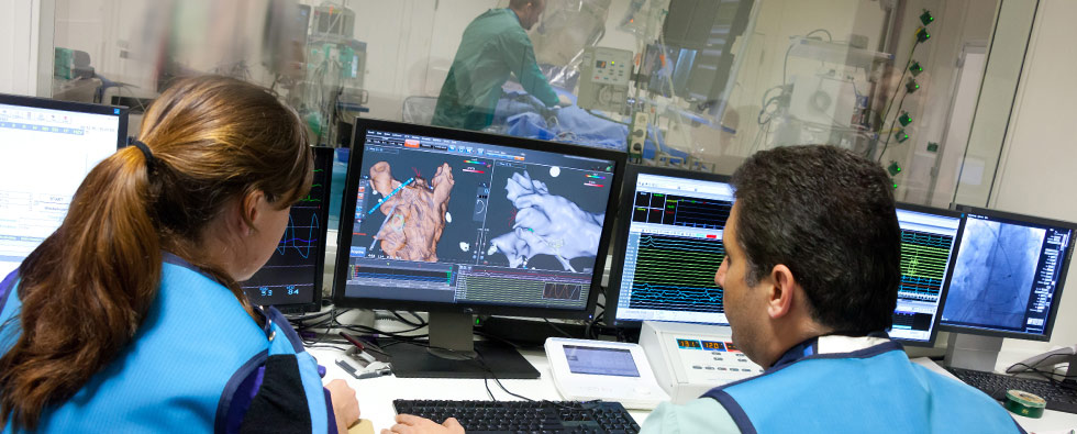 Herzkatheterlabor-Analyse-Überwachung