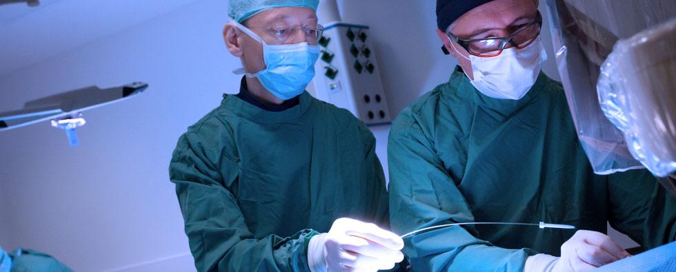 Herzkatheterlabor-Operation